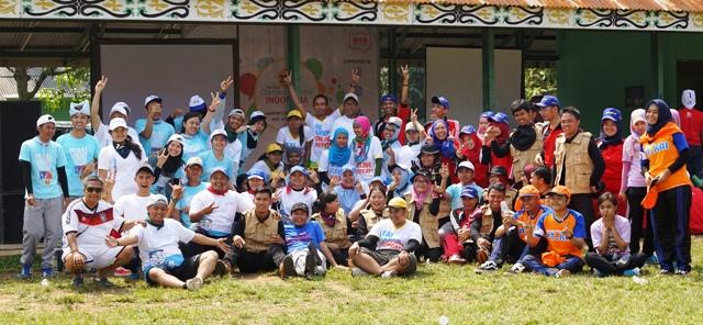 Seluruh peserta Jambore TBCCI 2015, kebersamaan dalam kompetisi sehat