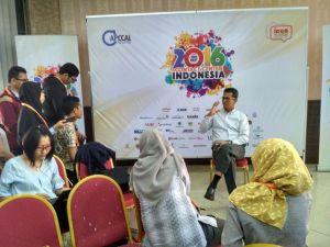 Ketua ICCA, Andi Anugrah melakukan Press Conference