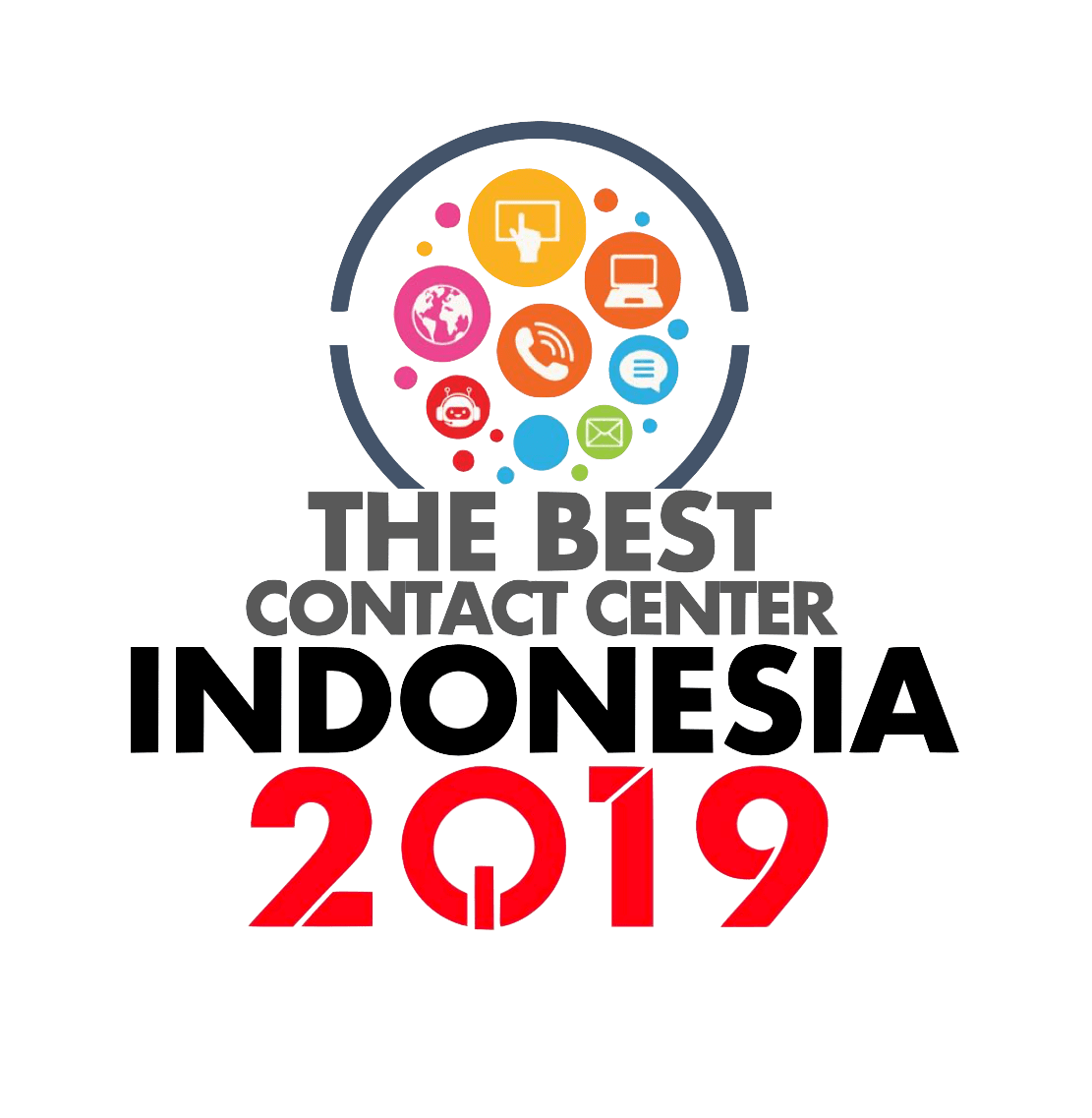 Logo The Best Contact Center Indonesia 2019