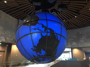 "Decorative image of ""upside down"" globe."