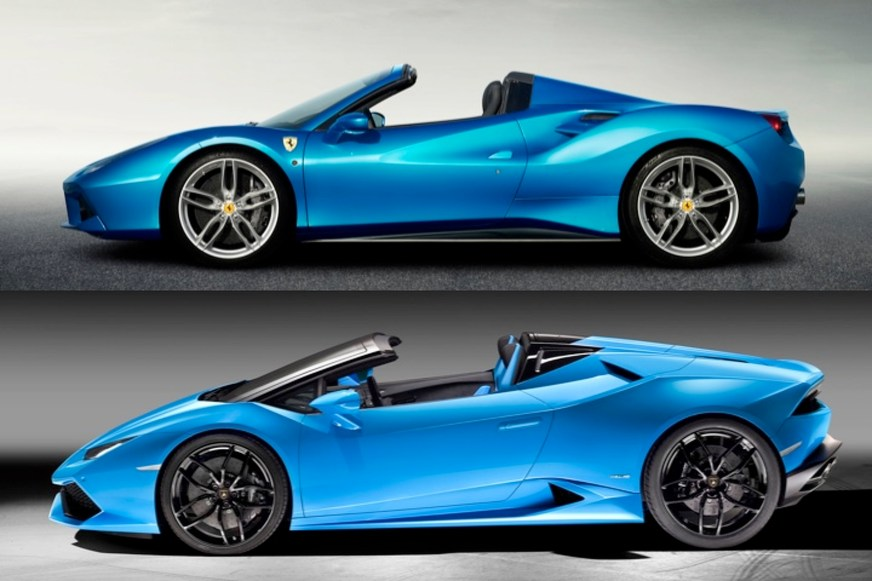 Lamborghini Huracan Spyder vs Ferrari 488: How Do They ...