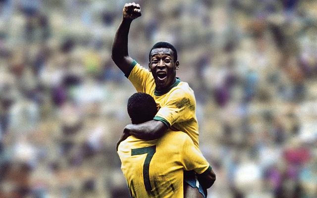 Pele in action for Brazil