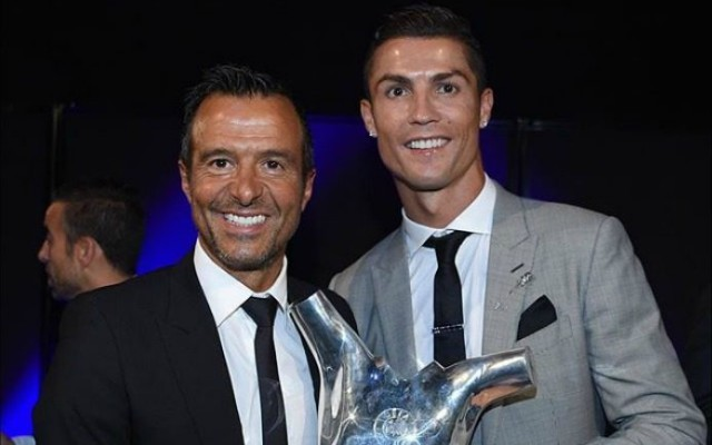 Cristiano Ronaldo with agent Jorge Mendes