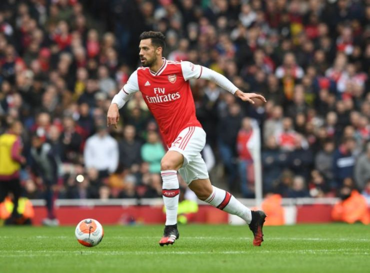 Pablo Mari in action for Arsenal