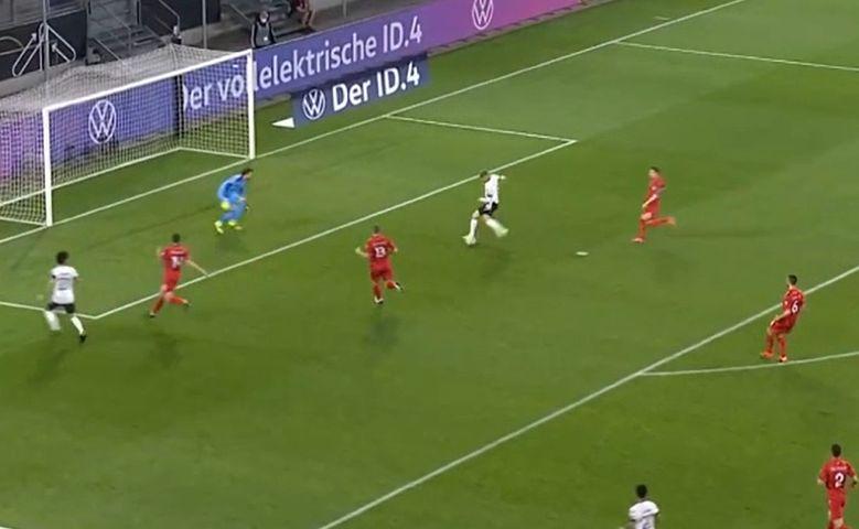 Video: Timo Werner shocking miss Germany vs North Macedonia
