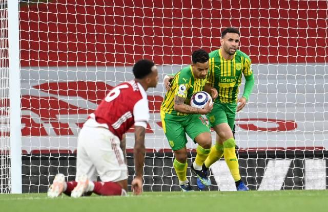 Matheus Pereira celebrates goal against Arsenal