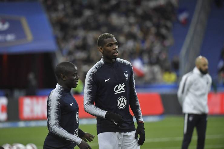 Pogba and Kante train for France