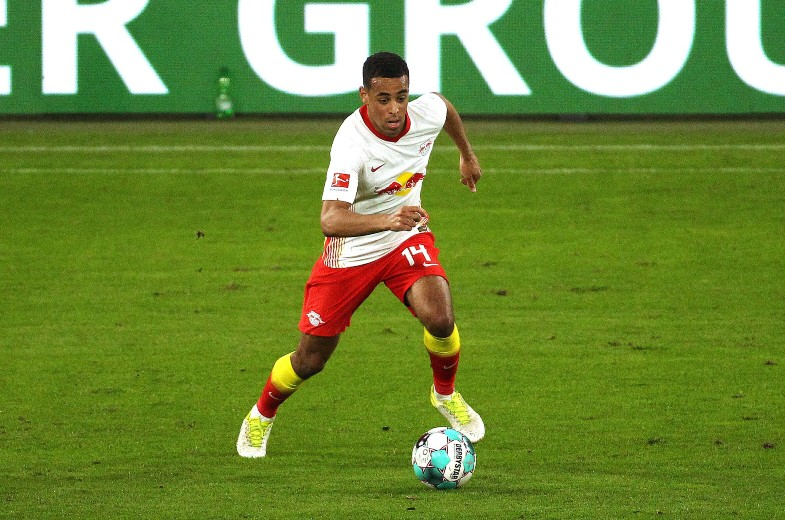 Tyler Adams in action for RB Leipzig