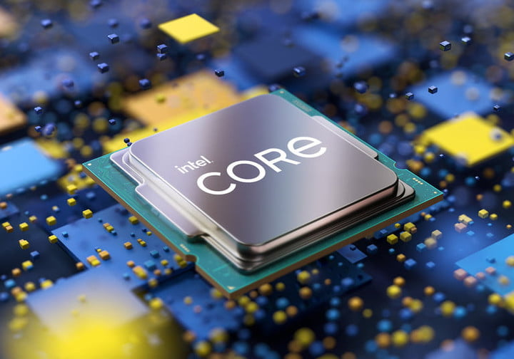 Promotional image of an Intel Core processor.