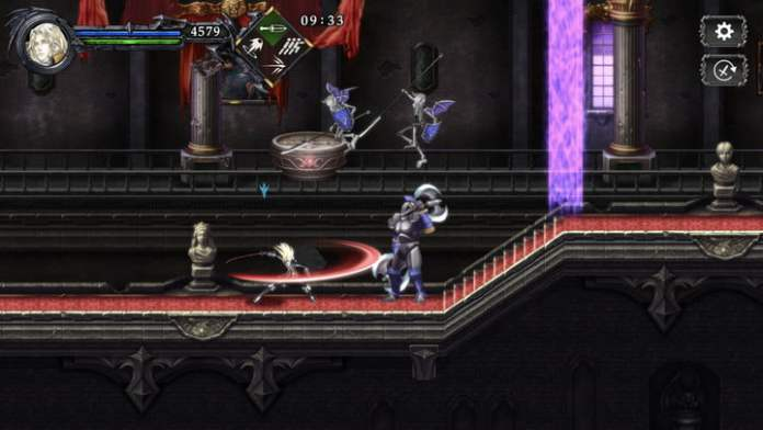 A Belmong kills a demon in Castlevania: the Grimoire of Souls.