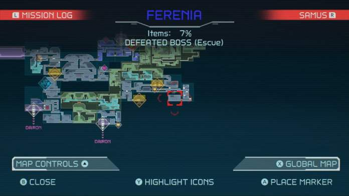 Map of Storm Missile in Metroid Dread.