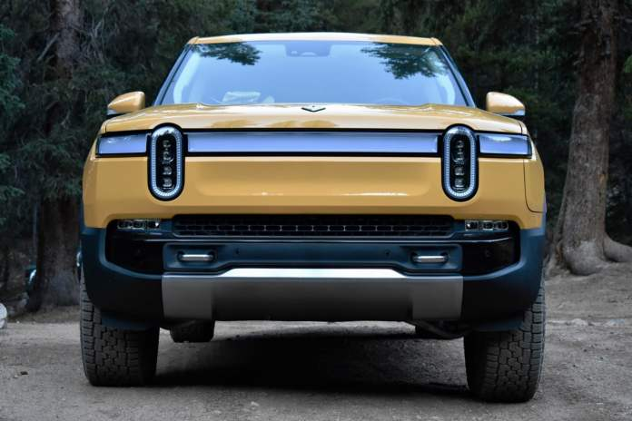 Front view of the 2022 Rivian R1T.