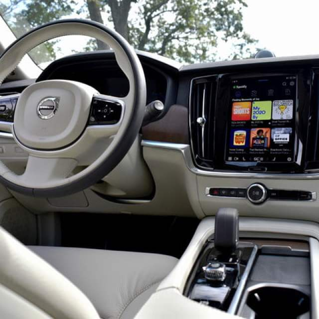 Interior of the 2022 Volvo V90 Cross Country.