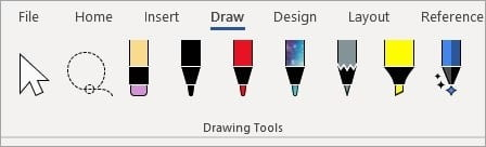 The new inking tools in word.