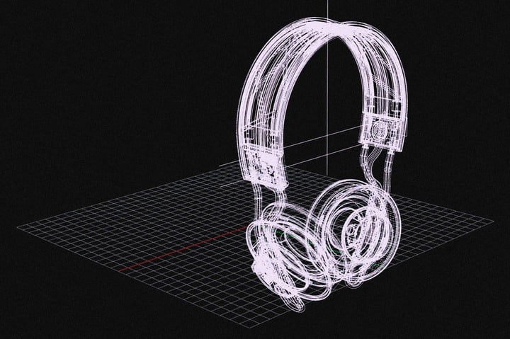 A concept drawing of the Adidas RPT-02 SOL headphones.