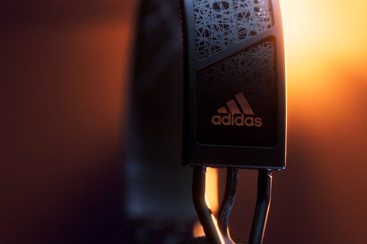 Close-up of the Adidas branding on the RPT-02 SOL's hanger.