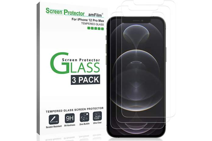 amFilm Glass Screen Protector for iPhone 12 Pro Max