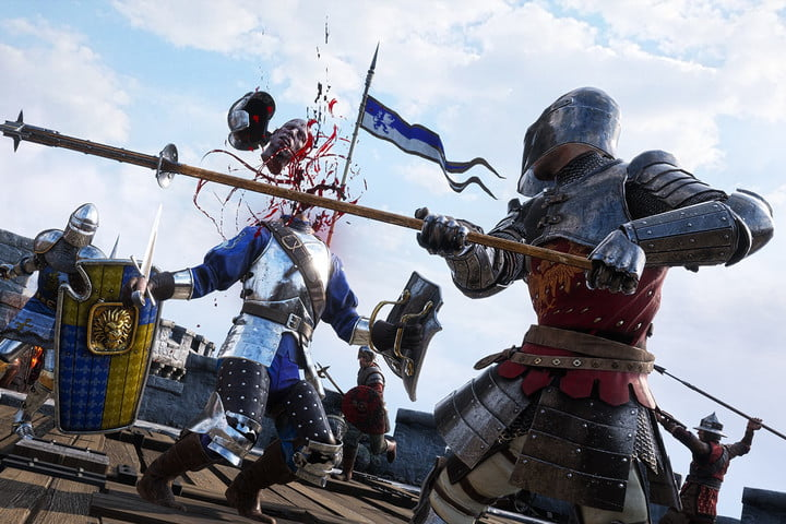A character being beheaded in Chivalry 2.