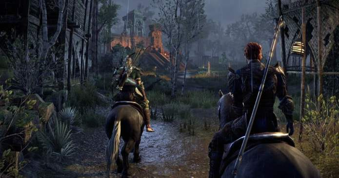Eso is traveling with fellow main character.