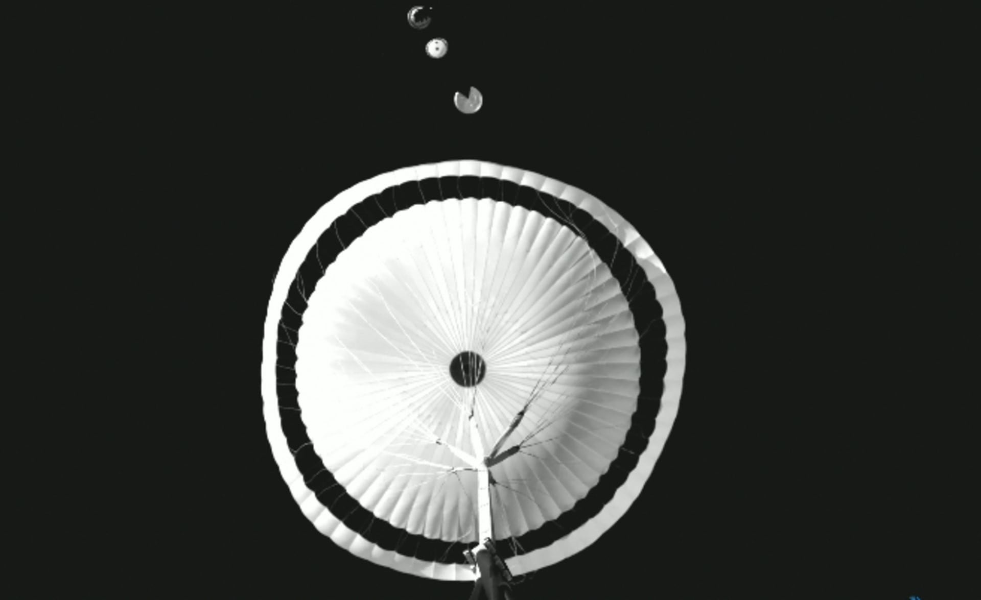 Watch the European Space Agency test its Mars Rover parachute
