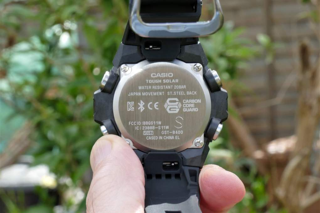 casio g shock steel gst b400 hands on features price photos release date case back