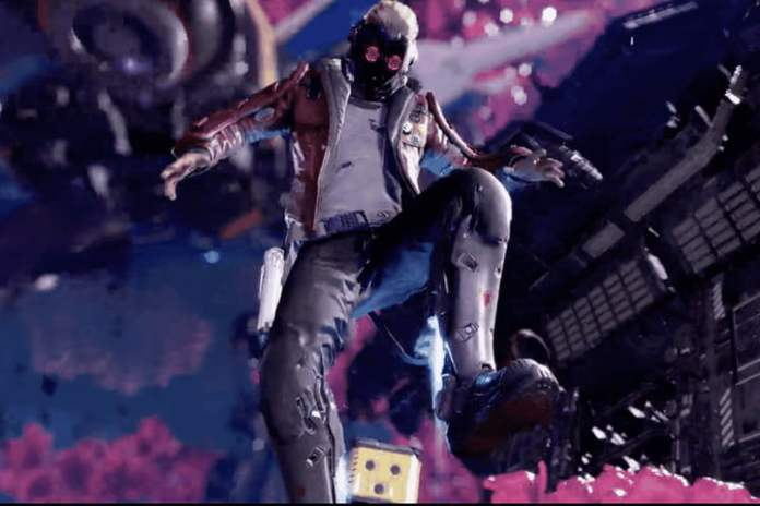 Star Lord from the Guardians of the Galaxy video game.