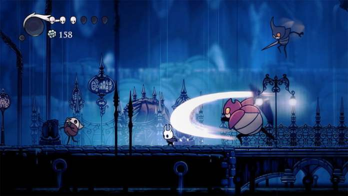 Hollow Knight to survive the attack of a big bug.