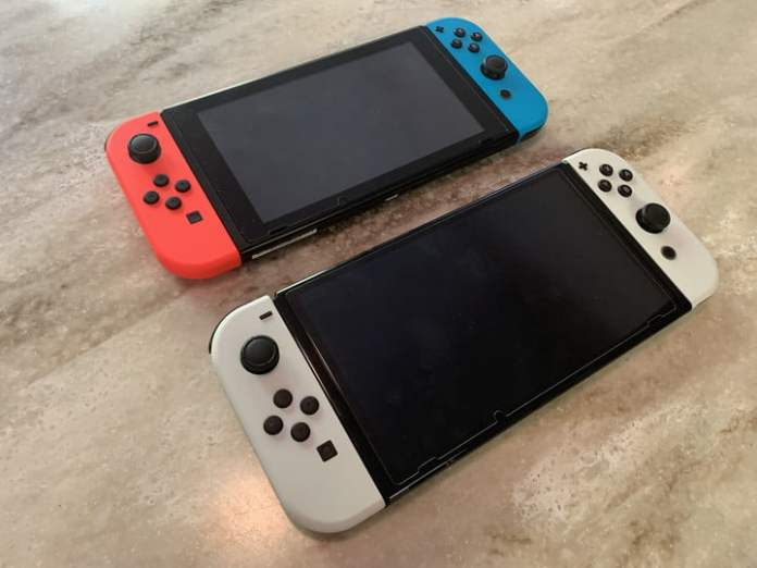 The original switch next to the OLED switch.