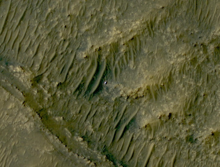 The white speck is NASA's Perseverance rover in the