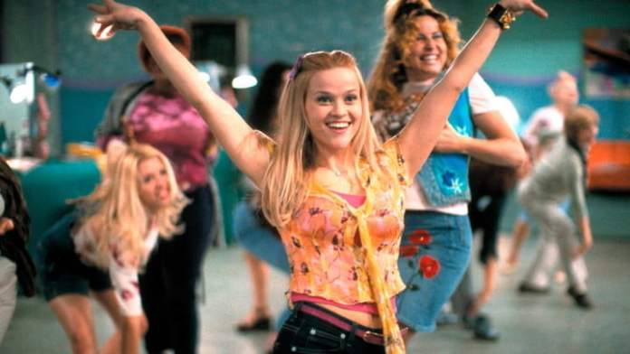 Reese Witherspoon in Legally Blonde.