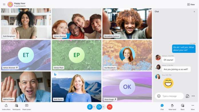 The new Skype Call Stage in Action.