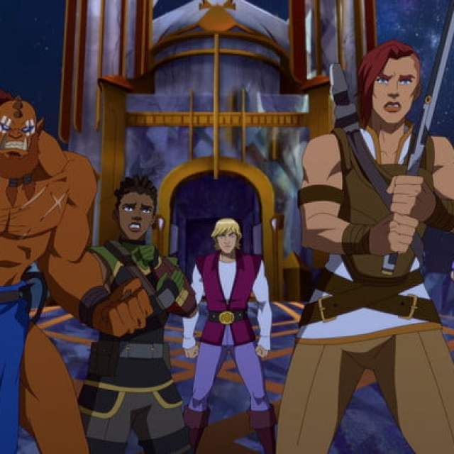The cast of animated characters from Masters of the Universe: Revelation series.