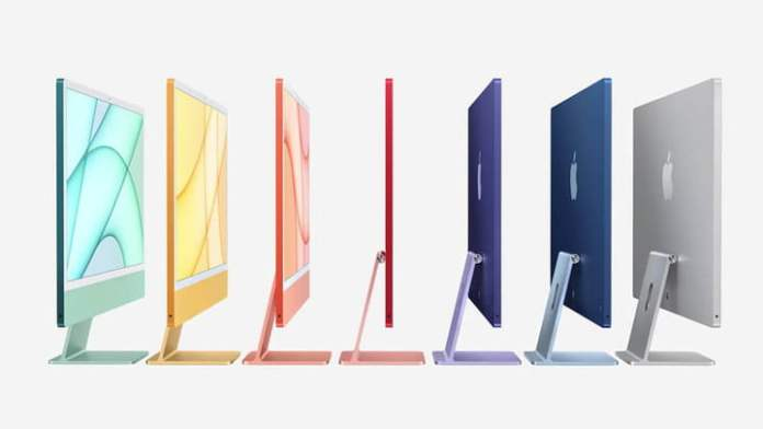 new imac color selection