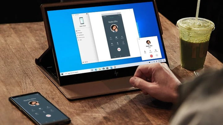 Link to Windows on an HP laptop and Android phone