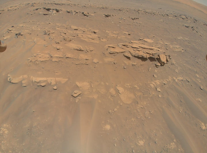 """An image of an area the Mars Perseverance rover team calls """"Faillefeu"""" was captured by NASA's Ingenuity Mars Helicopter during its 13th flight on Mars on Sept. 4, 2021."""