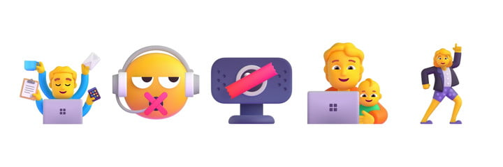 Five new work-from-home emoji that will be introduced.