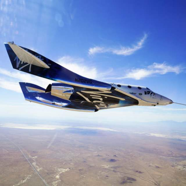 VSS Unity glides home after second supersonic flight in 2018