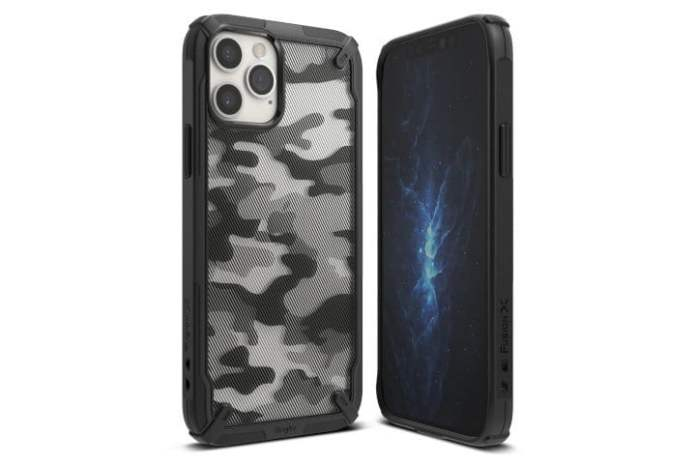 The front and back of the Ringke Fusion-X case for the iPhone 13 Pro.