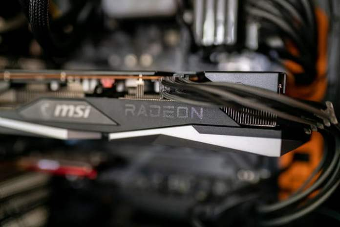 AMD RX 6600 XT is installed in a computer.