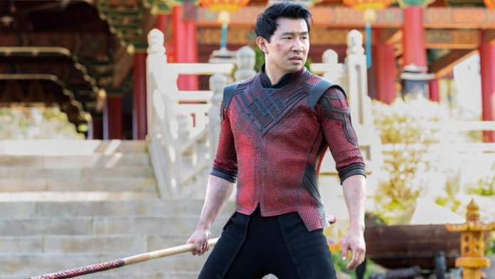Simu Liu as Shang-Chi in Shang-Chi and the Legend of the Ten Rings.