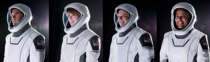 Portrait of SpaceX's first all-civilian crew.