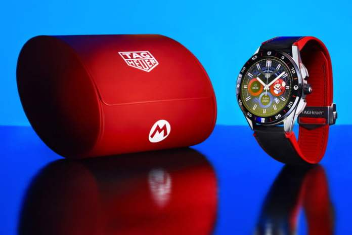 Tag Heuer X Super Mario Smartwatch with Travel Case.