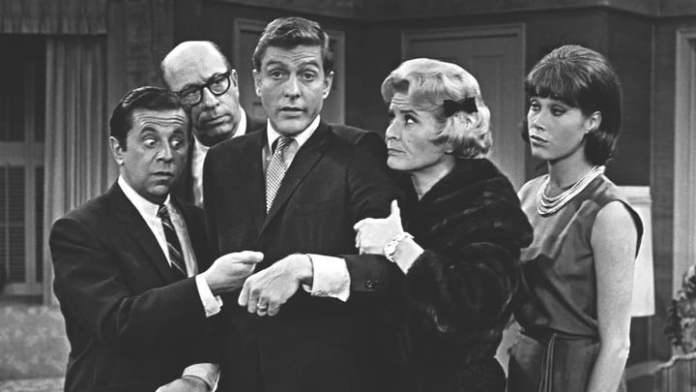 The cast of The Dick Van Dyke Show.
