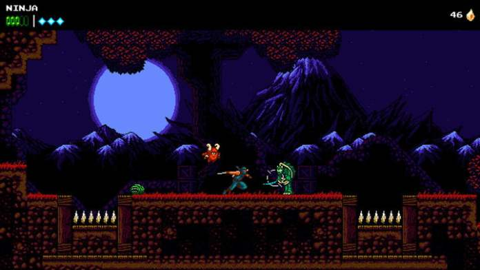 Enemy attacking messenger with green balls.
