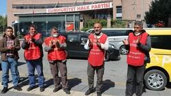 İşten çıkarılan işçiler CHP Genel Merkezi önünde basın açıklaması yaptı