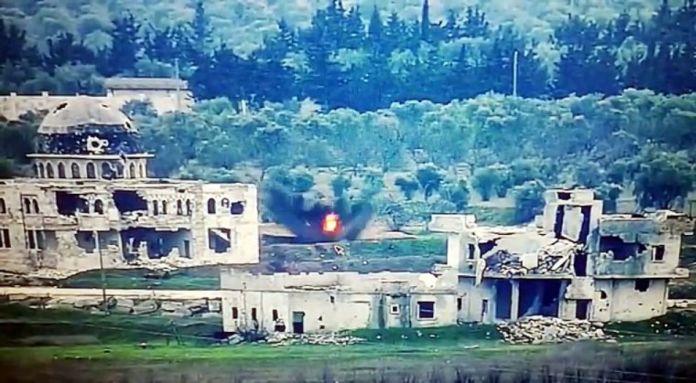 Suriye de saldırı hazırlığındaki teröristlerin vurulma anı #4