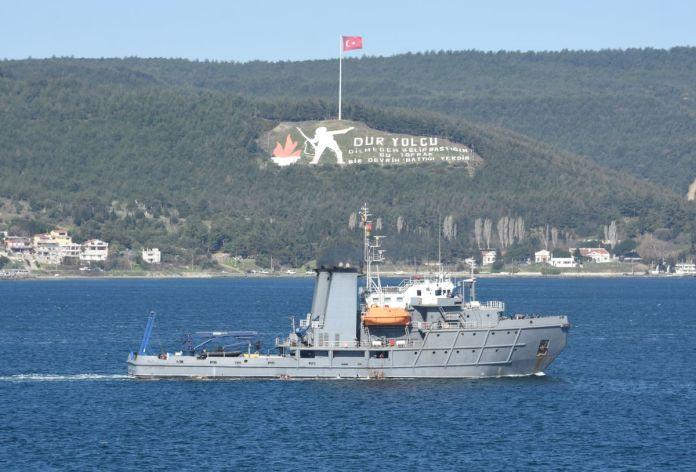 Romanya savaş gemisi Çanakkale Boğazı'ndan geçti #1