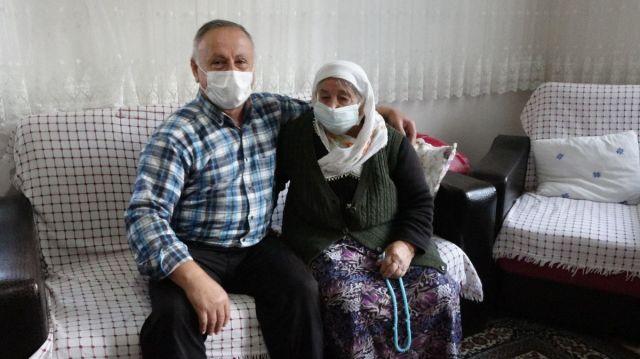 Akçaabat ta koronavirüs ü evde atlatan yaşlı kadın  herkes aşısını olsun  dedi #7