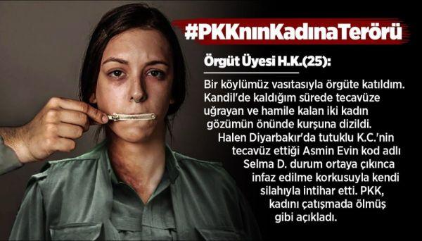 Kadın teröristin itirafları: Kandil'de tecavüz ve infaz vardı