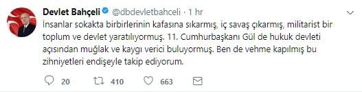 Yeni KHK'dan kaygılı olan Gül'e, Bahçeli'den cevap